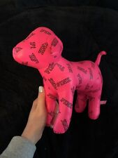 "New Victoria's Secret Pink GIANT 10"" x 13"" Mini Dog Limited Ed Pink logo vs pup"