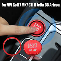 Engine Start Stop Push Switch Button Cover & ing Trim For VW Golf 7 MK7 GTI   ≈