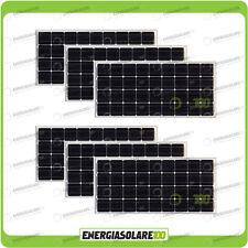 Set 6 Pannelli Solari Fotovoltaici 100W 12V Monocristallino Pmax 600W Baita Barc