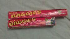 New listing 2 Vtg 70s Rolls Twist Tie Baggies Plastic Food Storage Bags Regular & Jumbo Size