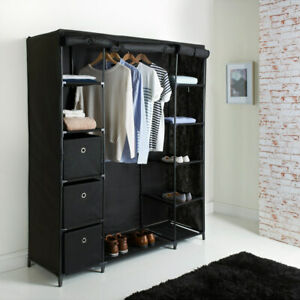Space ways Canvas Small/Large/Wide Wardrobes Multipurpose Storage Units