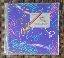 Vintage 90s Sangamon Gift Wrap Sheets - Celebrate Script - 2 Available