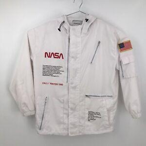 Size 2XL Surfola Nasa Jacket Fall / Winter 1990 Hooded Full Zip Zipper Pockets