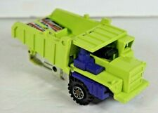 Vintage 1984 G1 Transformers Long Haul Decepticon Lime  Dump Truck Missing Wheel