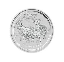 Lunar II Jahr der Ziege Year of the Goat 2015 2 OZ Unze Silber Argent Australien