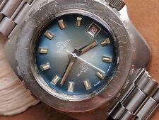 Vintage GK Breil Okay Diver Watch w/Blue Dial,All SS PCG Case,Original Bracelet