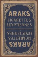Playing Cards 1 Single Card Old ARAKS CIGARETTES EGYPTIENNES Advertising Tobacco