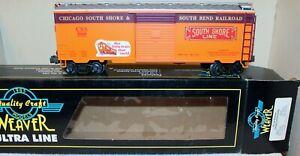 Weaver No. 500 Chicago South Shore & South Bend RR Box Car NEW in Original Box !