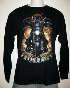 Ned Kelly Outlaw Legend Harley Rider Long Sleeve Black T Shirt S, M,L,XL,XXL,3XL