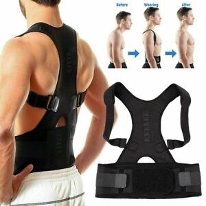 Posture Corrector Clavicle Shoulder Brace Lower Back Support Magnetic Women Men