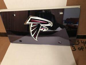 NFL Atlanta Falcons Laser License Plate Tag - Black