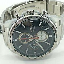 Seiko Analog Business Chronograph Silver Mens SSB255P1