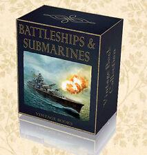 150 Rare Submarine Warship Battleship Books on DVD Royal Navy History WW1 WW2 54