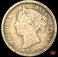 1893 Canada 10 Cents Flat Top 3 -VG/F - OBV 6 Lot#1196