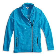 Lucky Brand - S - NWT - Blue Space Dye Asymmetric Zipper Sweatshirt Jacket