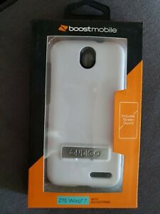 ZTE WARP 7 WHITE Intact Phone Case w/ Kickstand Screen Protector $49 ONDIGO NEW