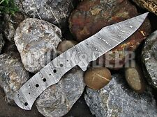 "9.5"" long HANDMADE DAMASCUS Steel Blank Blade HUNTING KNIFE Full Tang. YB206"