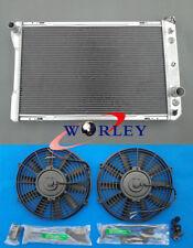 3 ROW Aluminum Radiator+Fans FOR Pontiac Firebird/Trans Am/Chevy Camaro V8 82-92