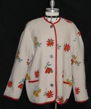 """WOOL Over Coat SWEATER Jacket Women Austria Winter LINED Warm 18 XL B48"""""""