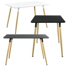 [En.casa] Dining Table 120x70cm Matte Lacquered Kitchen Room Retro