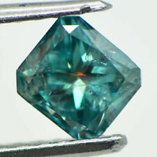 Loose Radiant Shape Diamond Fancy Blue Color Real 1.02 Carat Natural Enhanced I1