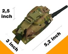 Pouch Case radio phone molle grenade Paintball airsoft bag multicam Waterproof