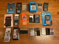 Lot of 32 Calculators Scientific HP TI Sharp Casio Canon Commodore Minuteman