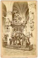Belgique, Bruxelles, Chair de Sainte-Gudule, ca.1870, vintage albumen print vint