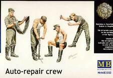 Masterbox German Auto-Repair Crew Mechaniker mit Werkbank 4 Figuren 1:35 NEU kit