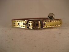 LEATHER GOLD CAT COLLAR