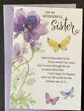 Happy Birthday Sister Hallmark Greeting Card Thoughtful