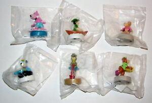 WENDY'S: YOGI BEAR & FRIENDS SET of 6 KID MEAL TOYS 1990 MIP Hanna Barbera