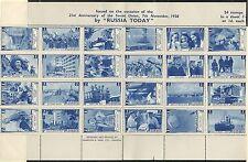1938 Harrison feuille commémorative russe
