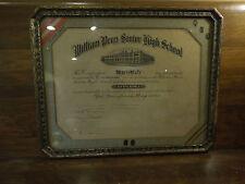 High School Diploma for Marie Bair/William Penn Senior High School Dated 1930