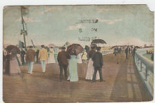 VINTAGE POSTCARD OF OSTENDE SUR L'ESTACADE BELGIUM POSTED BUT NO STAMP OR FRANK.