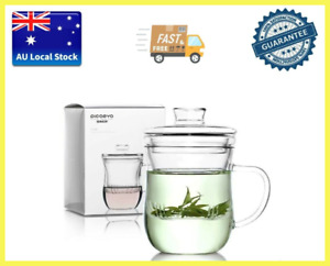 Glass Tea Cup With Infuser Tea Maker Designer Tea Cup Office Cup 300ml