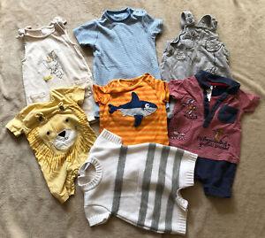 Baby Boys Clothes Bundle Aged 6-9 Months -Dungarees/Rompers Clothes Bundle X 7