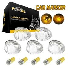 5x Round 9069 Cab Roof Top Light Clear Lens+5050 168 Amber LED for Chevy/GMC C/K