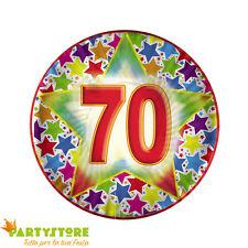 piatti 18 cm stardust 70 anni compleanno ricorrenza festa party