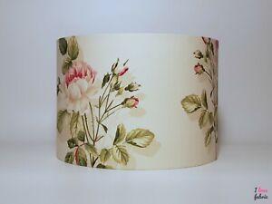 Handmade vintage new Sanderson nglish rose fabric lampshade floral