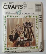 "McCall's 5739 Family of Cats 27.5"" and 12"" tall Precious Collections"