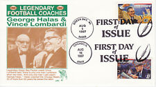 1997 FIRST DAY COVER FDC LEGENDARY FOOTBALL COACHES LRC CACHETS SPORTS