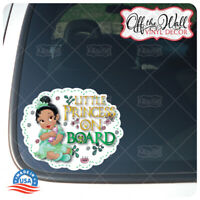 "Baby Tiana ""LITTLE PRINCESS ON BOARD"" Awareness Warning Sign Vinyl Sticker"