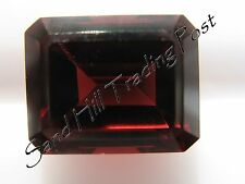 Natural 7x5 Loose Emerald Cut 1.29ct Red Garnet AAA
