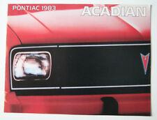 PONTIAC ACADIAN 1983 dealer brochure - English - Canada - ST501001117