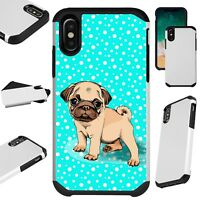 FusionGuard For iPhone 6/7/8 PLUS/X/XR/XS Max Phone Case SNOW PUG DOG