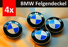 4 x 68mm Pass For Bmw blue white Badge Emblem Set Wheel Centre Caps e60 e61 e46