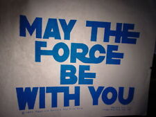 Star Wars May The Force Be With You 1970s Vintage Americana Iron On Transfer B-3