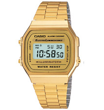 New Casio G-Shock Digital Vintage Collection Gold Tone Unisex Watch #A168WG-9VT
