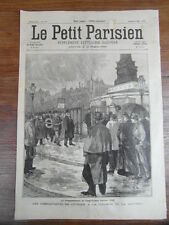 LE PETIT PARISIEN 1898 MISERE EN SICILE Combattants de Fevrier 1848 (474)